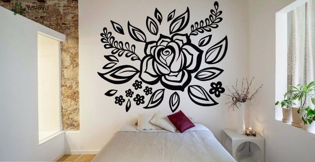 Yoyoyu decalcomania della parete fiore adesivi murali in for Parete testiera letto