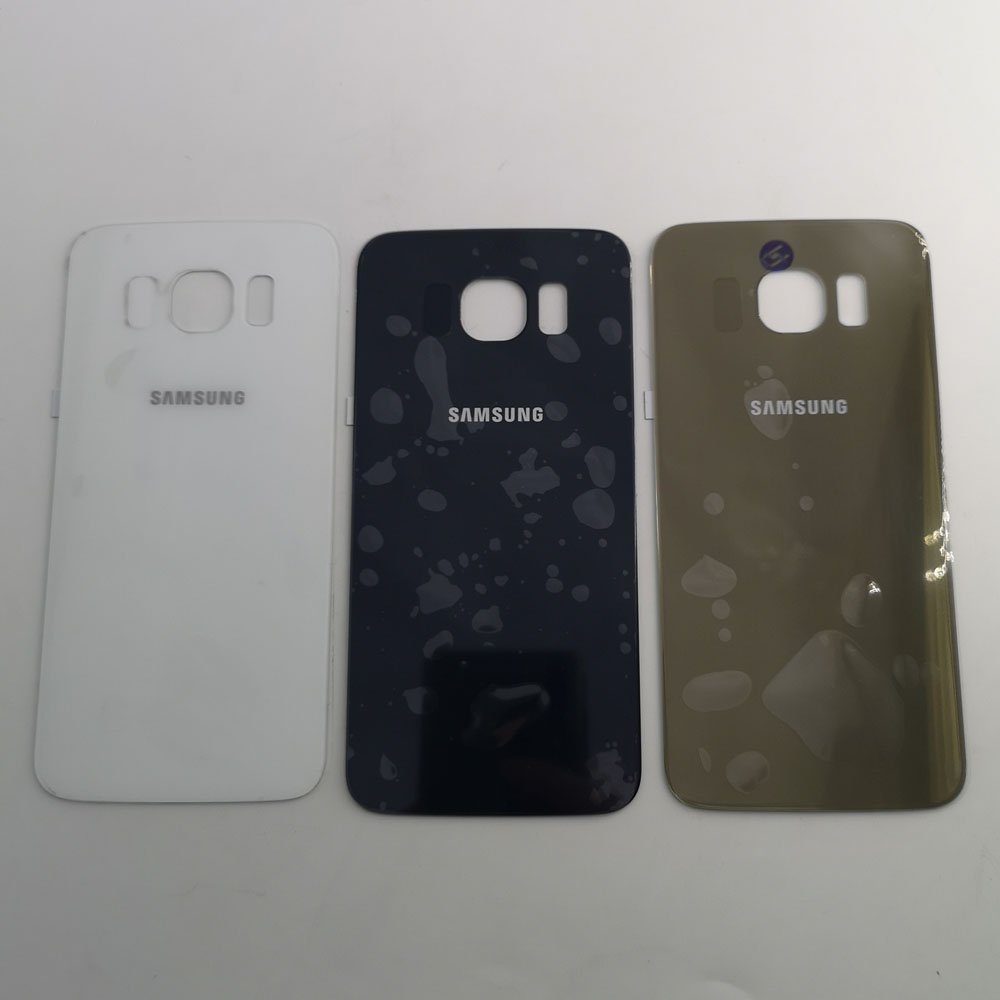 For <font><b>Samsung</b></font> Galaxy S6 G920F <font><b>G920</b></font> <font><b>SM</b></font>-G920F G9200 Back Battery Cover Door Rear Glass Housing Case Replacement + Adhesive Sticker image