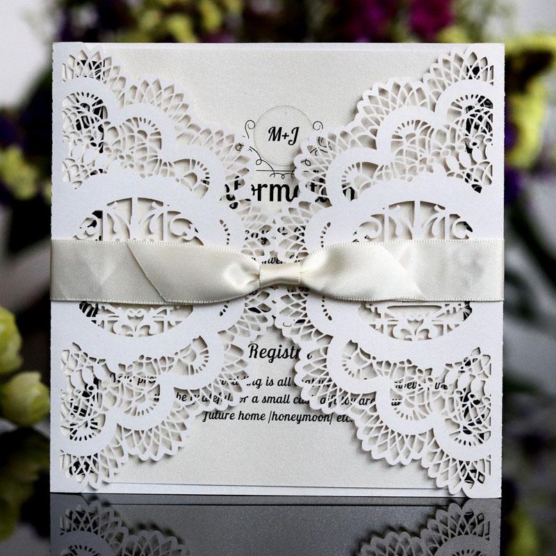 Details About 20 Unids Set Tarjeta De Invitación Romántica Para Boda Delicadas Flores