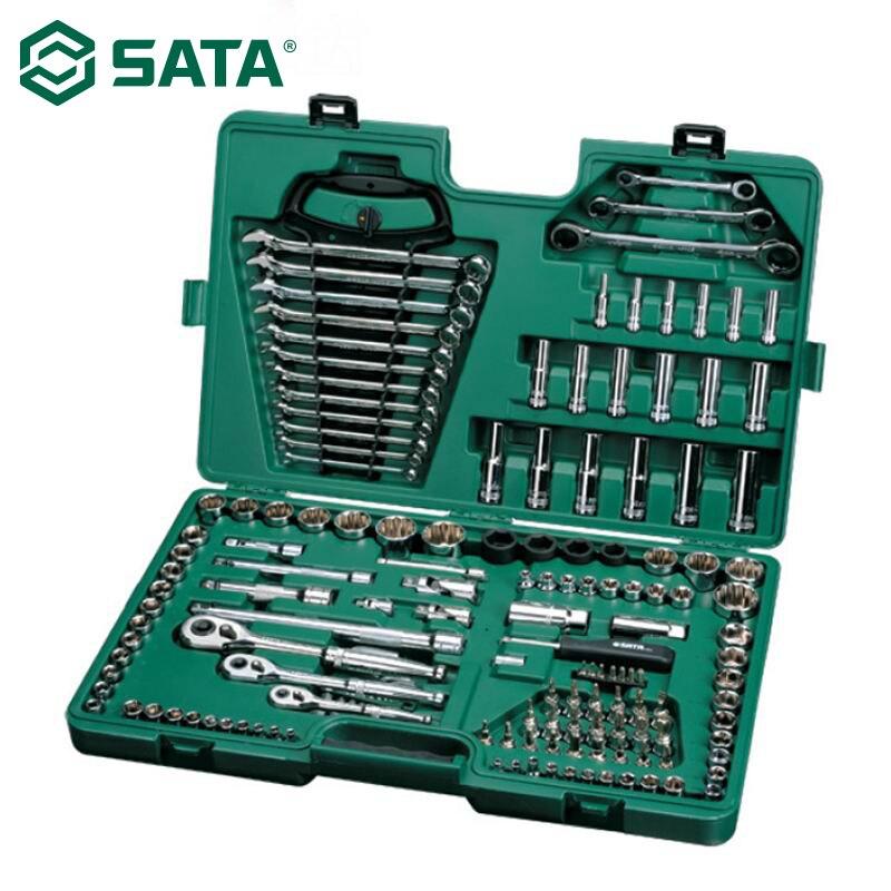 SATA 150 шт. 1/4 3/8 комбинированный ключ с трещоткой, отвертка, инструмент для ремонта авто, набор для ремонта автомобиля 09510