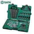 SATA 150 pièces 1/4 3/8 combinaison manchon clé à cliquet tournevis outil d'entretien automatique voiture réparation ensemble 09510
