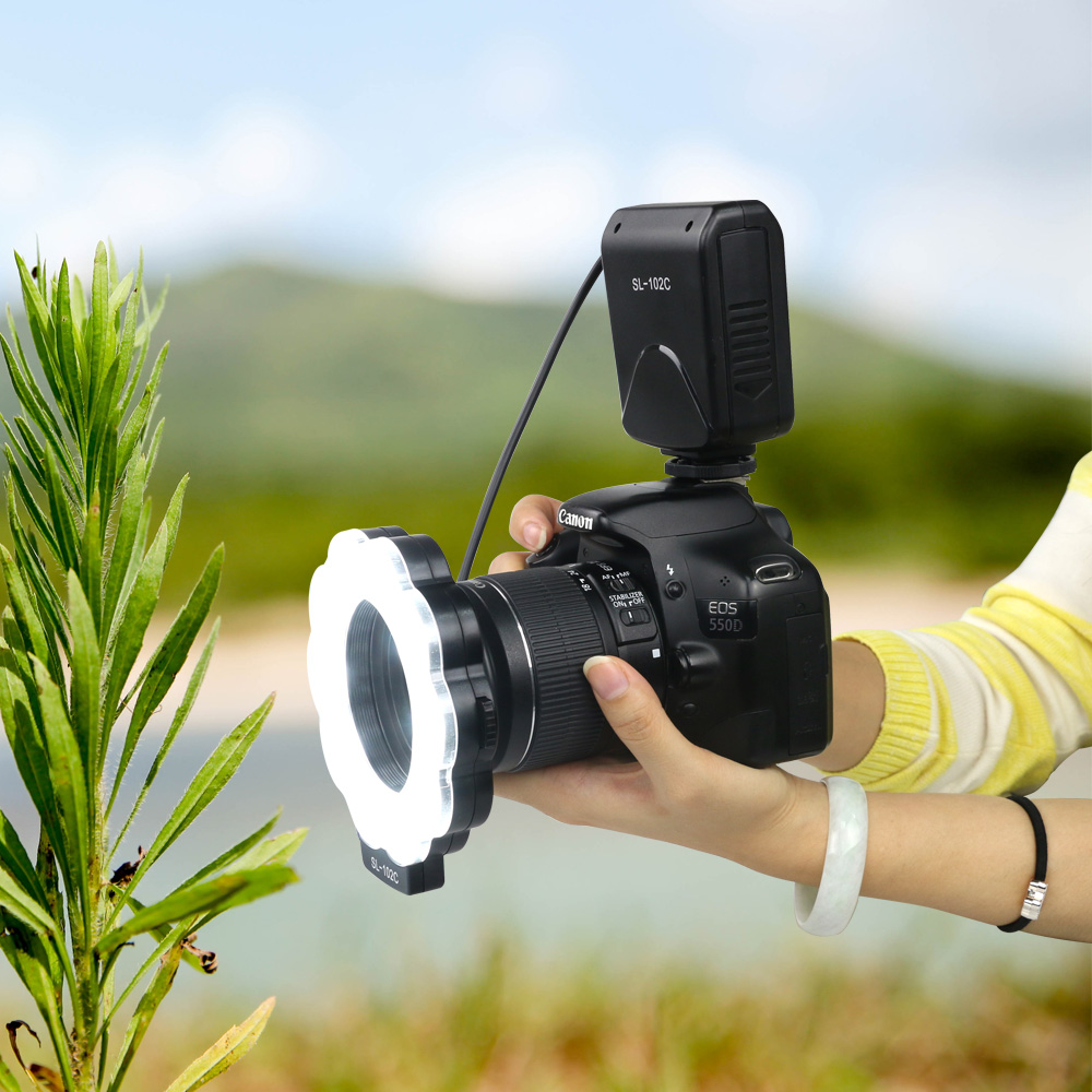 New Macro Led Ring Light with Adapter ring for Nikon D5100 D3100 Series Canon 5D Photography 1