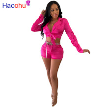HAOOHU Neon Green Rose Sexy Two Piece Set Festival Clothing Crop Top and Biker Shorts Matching Sets 2 Piece Outfits for Women