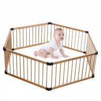 GIANT KIDDY COTS BABY PLAYPEN CHILD PET SAFETY PLAY YARD LINK 100 WOODEN TIMBER