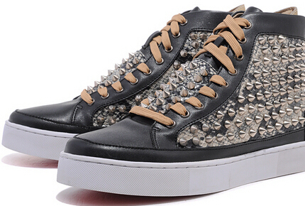 b0250d4b6b0 2014 new sheepskin snake rivet high help men and women casual shoes with a red  sole