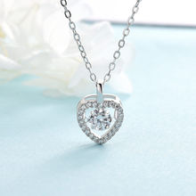 Sterling Silver Necklace Heart Crown Girlfriend Gift Pendant Women Jewelry Zircon Diamond Pendant 925 with Box Clavicle Chain(China)