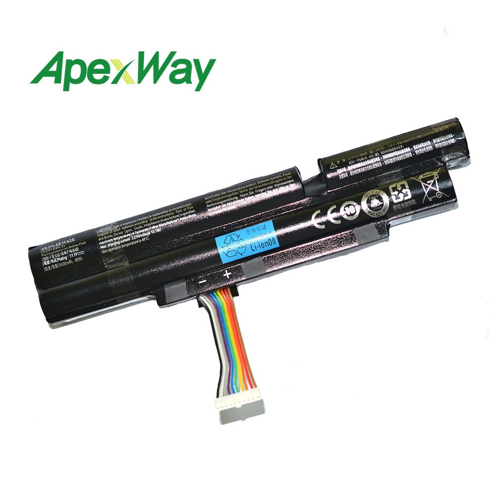 11.1V 4400mAh Laptop battery for <font><b>Acer</b></font> Aspire TimelineX 5830TG <font><b>4830TG</b></font> 3830TG 3830T 4830T 5830T 3INR18/65-2 AS11A3E AS11A5E image