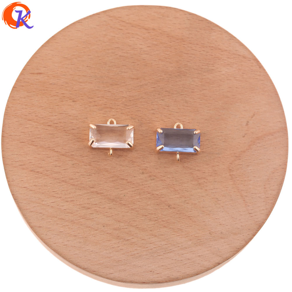 Cordial Design 30Pcs 16*13MM Jewelry Accessories/DIY Jewelry Making/Crystal Earrings Connectors/Hand Made/Earring Findings