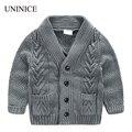 Uninice meninos blusas 2017 primavera nova crianças marca de bebê crianças cardigan casaco jaqueta 2-8a meninos estilo casual malha casacos