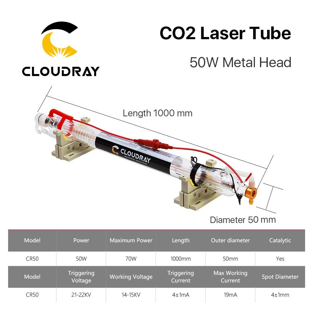 Cloudray Tubo láser de CO2 actualizado Cabezal de metal 1000MM 50W - Piezas para maquinas de carpinteria - foto 6