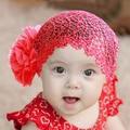 Crianças Lace Hat Big Flores Crianças Chapéu De Costura Meninas Crianças Cap 1-6A 2 Cores Quentes