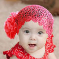 Niños Atan Sombrero Flores Grandes Sombrero de Los Niños de Costura Niñas Niños Cap 1-6Y 2 Colores Calientes