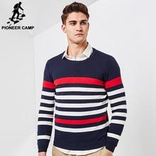 Pioneer Camp 2017 Новая Весна тонкий свитер мужчин бренд одежды моды для мужчин пуловеры качество полосатый вязаный свитер мужской AMS705013
