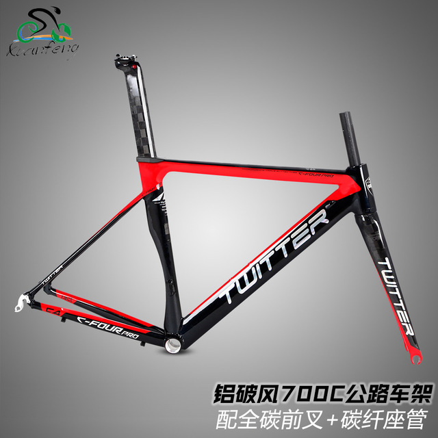 Twitter C4 Pro 700C Road Bicycle Aluminum Alloy AL7005 Frame 18K Carbon Fork Carbon Seatpost 46/48/50/52cm 100mm/130mm 44*54mm rolling stone attack carbon 700c road bicycle aero frame fork set uci approved 46cm 49cm 52cm