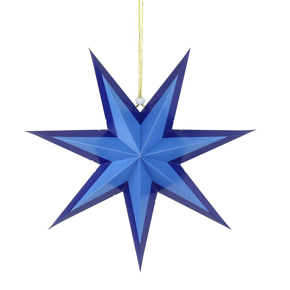 3D Paper 9 Point Star Christmas Halloween Wedding Home Garden Hanging Decoration