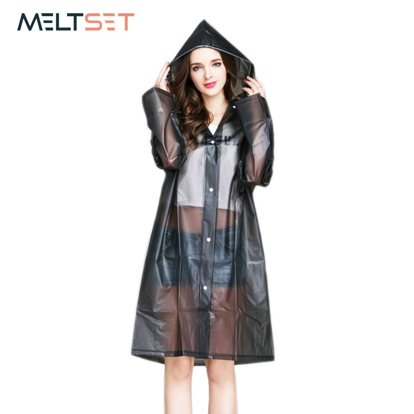 Women Rain Coat Plus Size Long Raincoat Transparent Bicycle Motorcycle Rainwear Waterproof Trench Coat Hiking Rain Gear Poncho