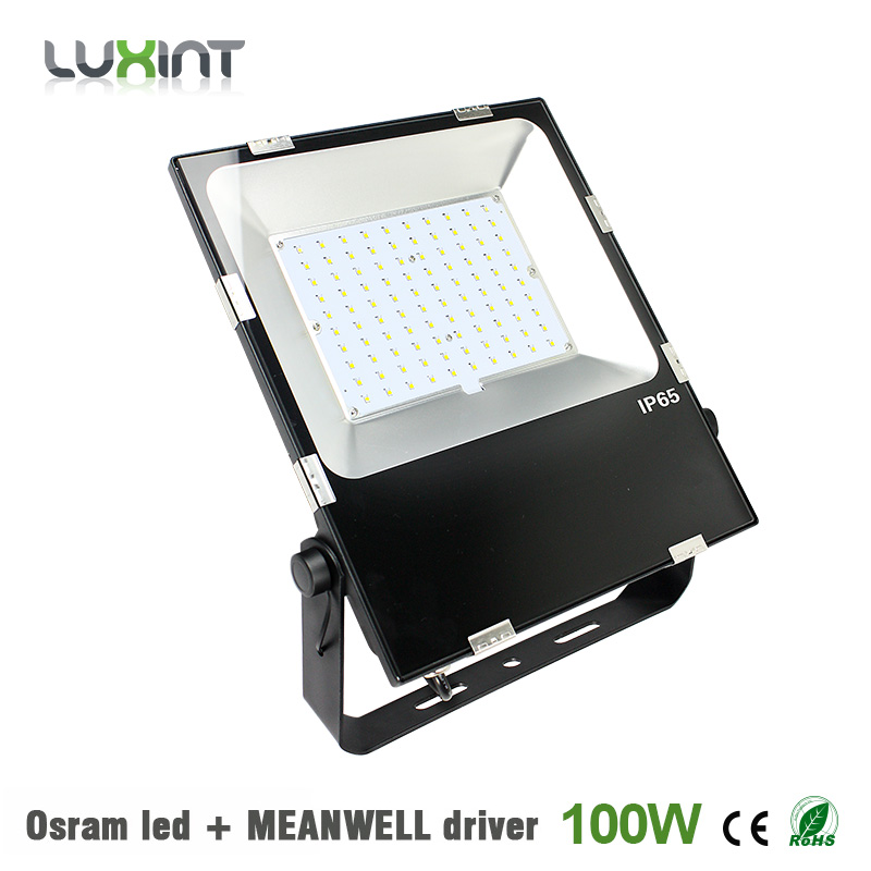 Cheap Outdoor Led Lights: 100w Outdoor led flood light fixture Osram led ultrathin 5years warranty  IP65 waterproof spot lighting with,Lighting