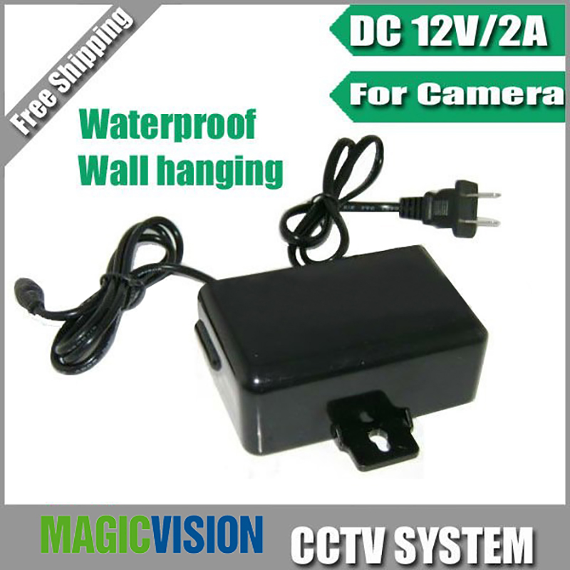 DC 12V 2A Power Supply Adapter For CCTV Camera,European Wall Hanging Waterproof Outdoor Power Adapter ahwvse waterproof outdoor cctv power supply dc 12v 2a power adapter power switch us eu uk for cctv camera