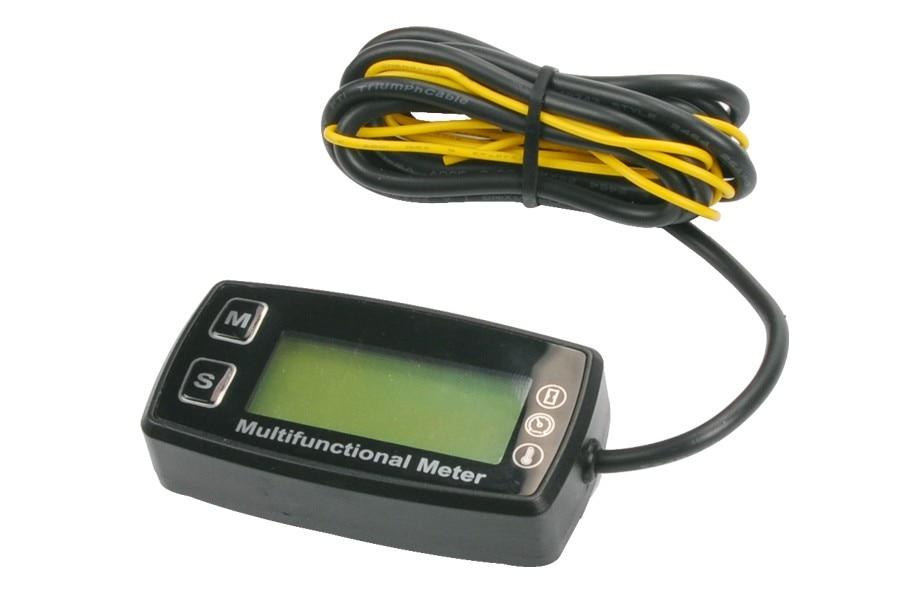 Tachometer With Hour Meter : Go kart tach hour meter digital waterproof tachometer max rpm