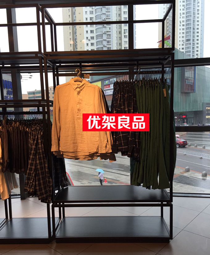 Clothing store display rack clothes hanger shelf landing clothing rack shelf display rack simple clothes managing the store