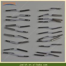 100 шт./лот 1.5 мм белый/черный эластичный шнура с металлическими зубцами модные кольца карты полиэстер шнур Рождество