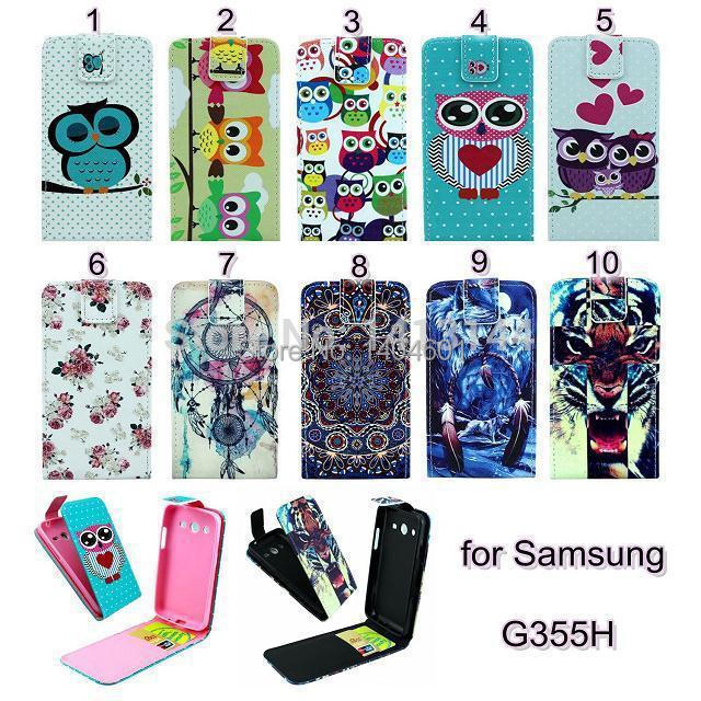 Samsung Galaxy Core 2 G355H G3559 New Flip Style Back Cover Leather Cell Phone Case Cases Bag Protector Core2 - Laumini Trading CO. store