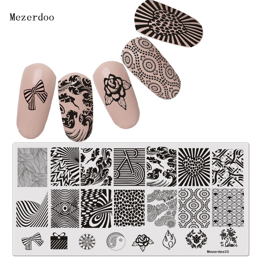 Streep oog patroon sjablonen DIY sjabloon 3D Nail Art Poolse - Nagel kunst