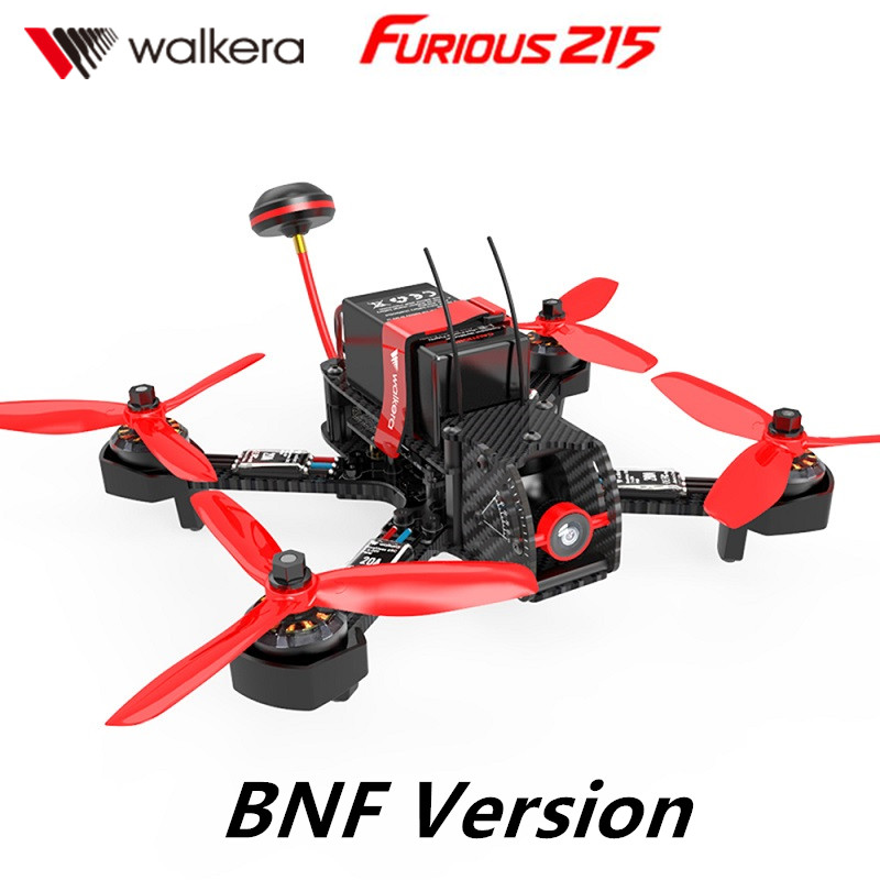 [In Stock] Walkera Furious 215 RC Racing Drone BNF without Transmitter RC Quadcopter  with 600TVL Camera and F3 Flight Control drone with camera rc plane qav 250 carbon frame f3 flight controller emax rs2205 2300kv motor fiber mini quadcopter