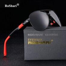 RoShari polaroid gafas de sol polarizadas de los hombres de la Marca de calidad superior de la vendimia gafas de sol del Conductor Hombres de Pesca Gafas Gafas de sol gafas de sol hombre