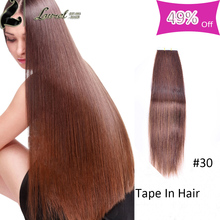 20 Pcs Peruvian Virgin Hair Straight Tape In Human Hair Extensions #1 #2 #16 #30 #60 #613 10 Colors Skin Weft Silky Straight