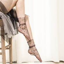 SP&CITY 2018 New Design Luxry Gold Shiny Short Socks Women Fashion Harajuku Ankle Transparent Hollow Out Low Hosiery