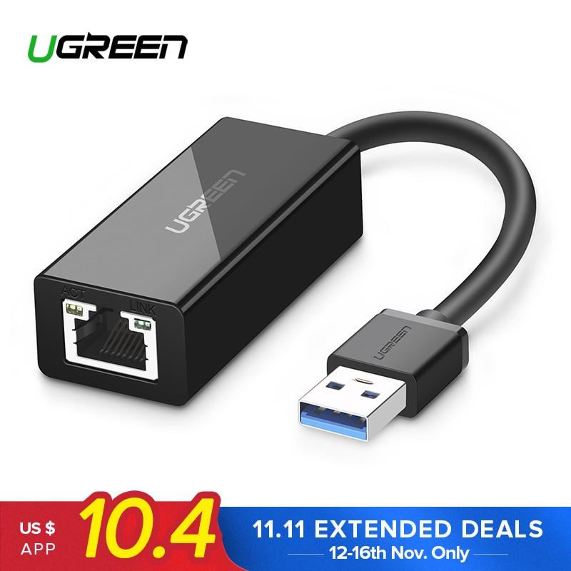 Ugreen USB Ethernet Adapter USB 3.0 2.0 Network Card to RJ45 Lan for Windows 10 Xiaomi Mi Box 3 Nintend Switch Ethernet USB usb ethernet adapter usb 2 0 network card usb to ethernet rj45 lan gigabit internet for nintendo switch usb ethernet