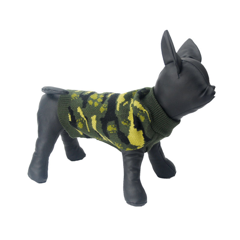 Hot Sale Autumn/Winter Warm Dog Coat Camouflage Cool Puppy Boy Knitting Clothes For Pet Dog T Shirt