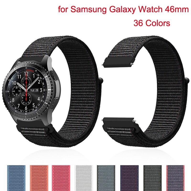 Gear S3 For Samsung Galaxy Watch 46mm 42mm Gear Sport  S2 S3 Frontier Nylon Huawei Watch Gt Nato Strap 22mm Watch Band Bracelet