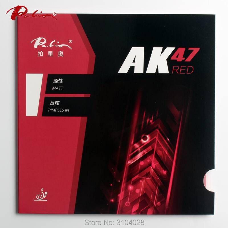 Palio offizielle 40 + rot Ak47 tischtennis gummi rot schwamm für schleife und schnellen angriff neue stil für schläger spiel ping pong