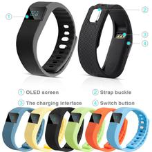 64X32 Big OLED Screen Smart Wrist Band Sleep Sports Fitness Activity Tracker Pedometer Bracelet Watch For iPhone Tracker steps