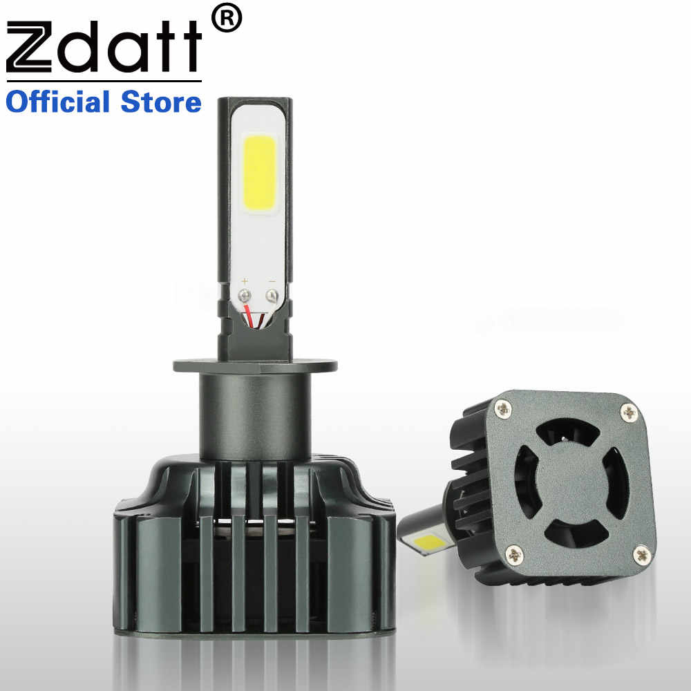 Zdatt H1 Led Headlights Canbus Ready Super Bright 100W 12000Lm Lamp High Power Lamp 12V 24V Light Bulbs for Cars Automobiles
