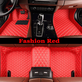 ZHAOYANHUA Custom Special car floor mats for Mitsubishi Lancer Galant ASX Pajero V73 V93 5D car styling all weather carpet floor image