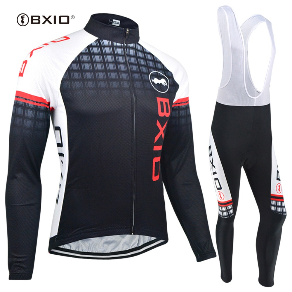 BXIO Winter Thermal Fleece Cycling Jerseys Sets Super Warm Bike Clothing Pro Black Bicycle Jerseys Ropa Ciclismo Invierno 012 все цены