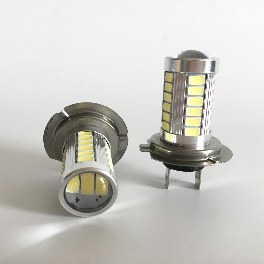 H7 LED 33SMD Gündüz İşıq Avtomobil LED Duman Sürücü - Avtomobil işıqları - Fotoqrafiya 2