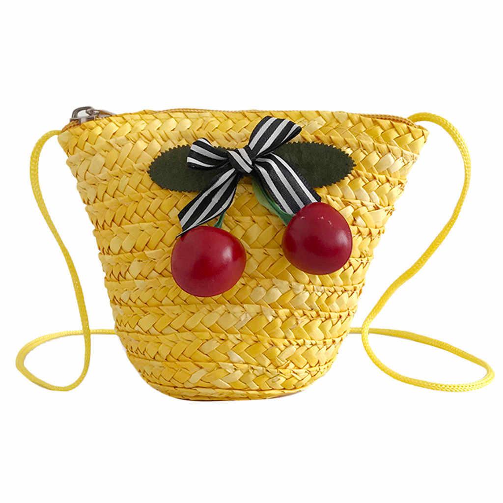 OCARDIAN-Bolsas De Palha De Vime Saco Pequeno Mini Coin Bolsas Estilo do Verão Artesanal Tecido bolsa de Praia Rattan Tecido Artesanal Malha 5M16