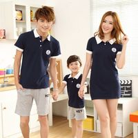 Mother Kids Summer Family Home Clothing Short Sleeve Boys T Shirt Shorts Outfits Mother Father Son