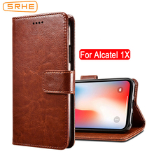 SRHE For Alcatel 1X Case Cover Flip Leather With Magnet Wallet Case For Alcatel 1X 5059D 5059Y 5059X 5059T 5059J 5059I 5059A