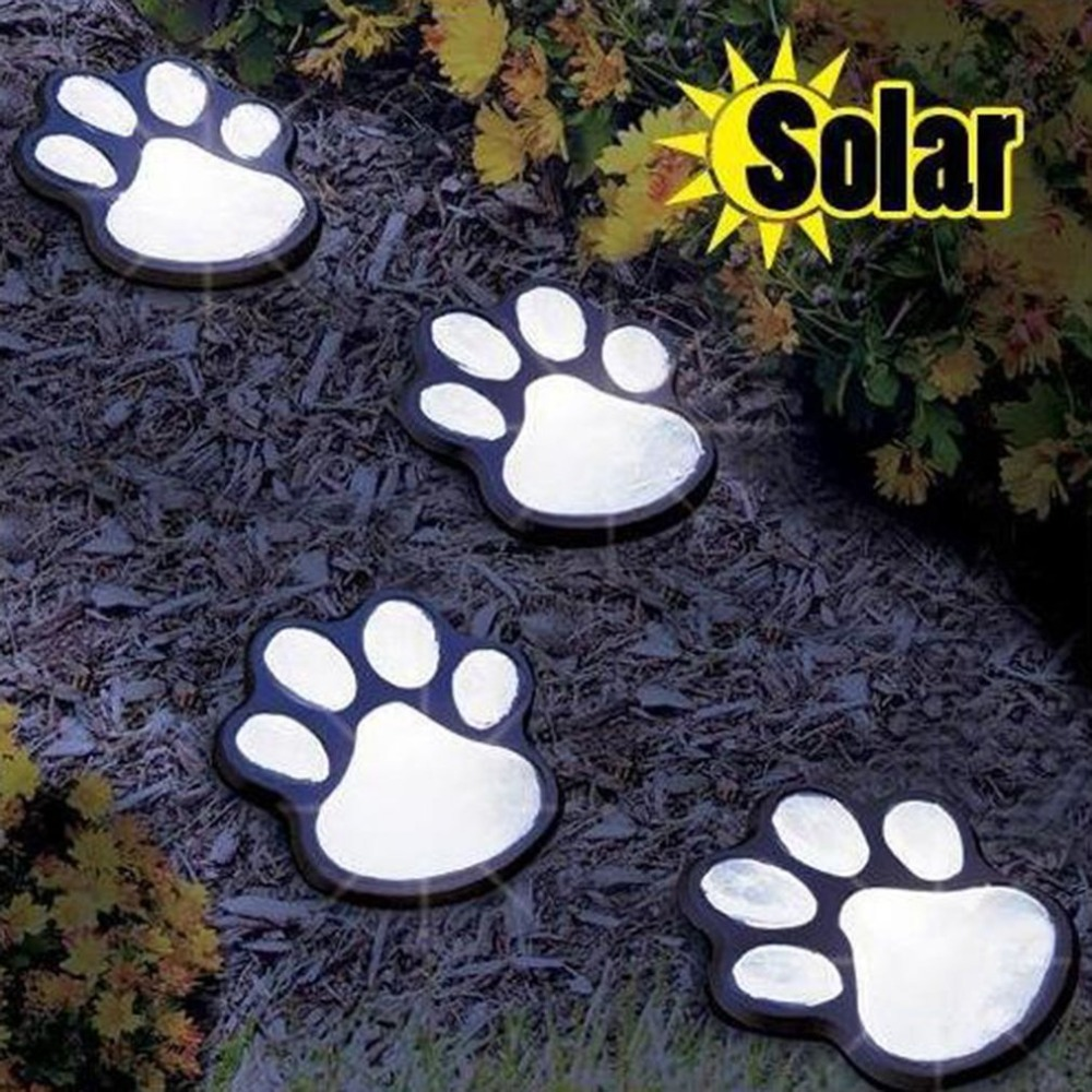 Solar Power Bear Claw Lamp Clever Night Light Outdoor Garden Lantern LED Landscape Light Home Garden Decoration Road Stud
