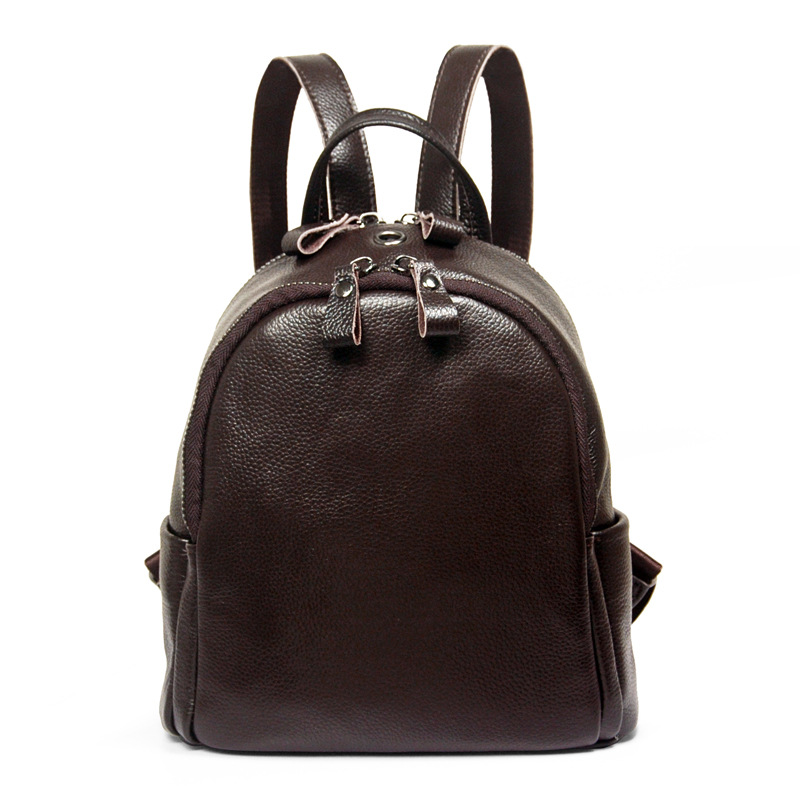 Brand New Arrival Women Backpack Genuine Leather Mini Preppy Simple Female Shoulder Bag High Quality School Bag Daily Bagpack  2016 high quality fashion new women backpack pu leather ladies shoulder bag college frosted backpack wild simple mini school bag