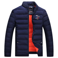 Men Sharked Winter Casual New Hooded Thick Padded Jacket Zipper Slim Men And Women Coats Men Parka Outwear Warm