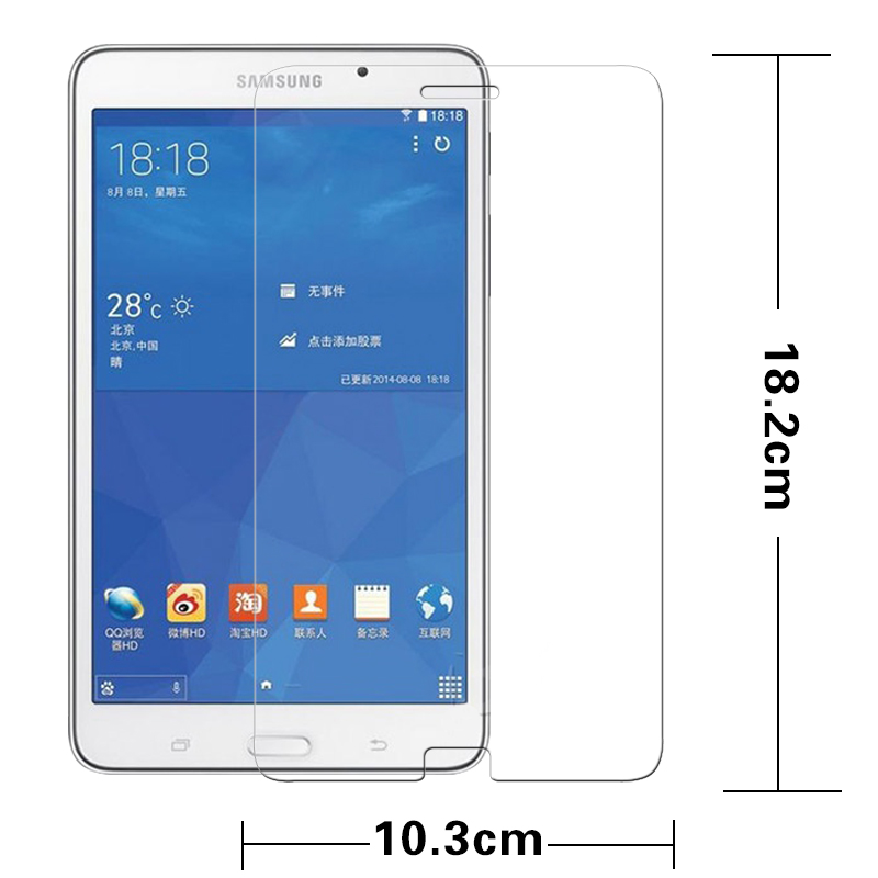 "Premium gehärtetem Glas Film für Samsung Galaxy Tab 4 T230 T231 T235 Nook 7,0 ""Tablet PC Anti-Splitter LCD Screen Protector Film"