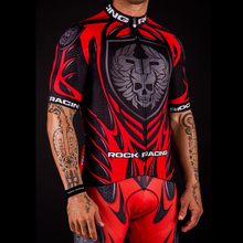 ROCK RACING Mens Bike Jersey Bicycle Short Skull Cycling Mountain Sleeve Maillot Clothing