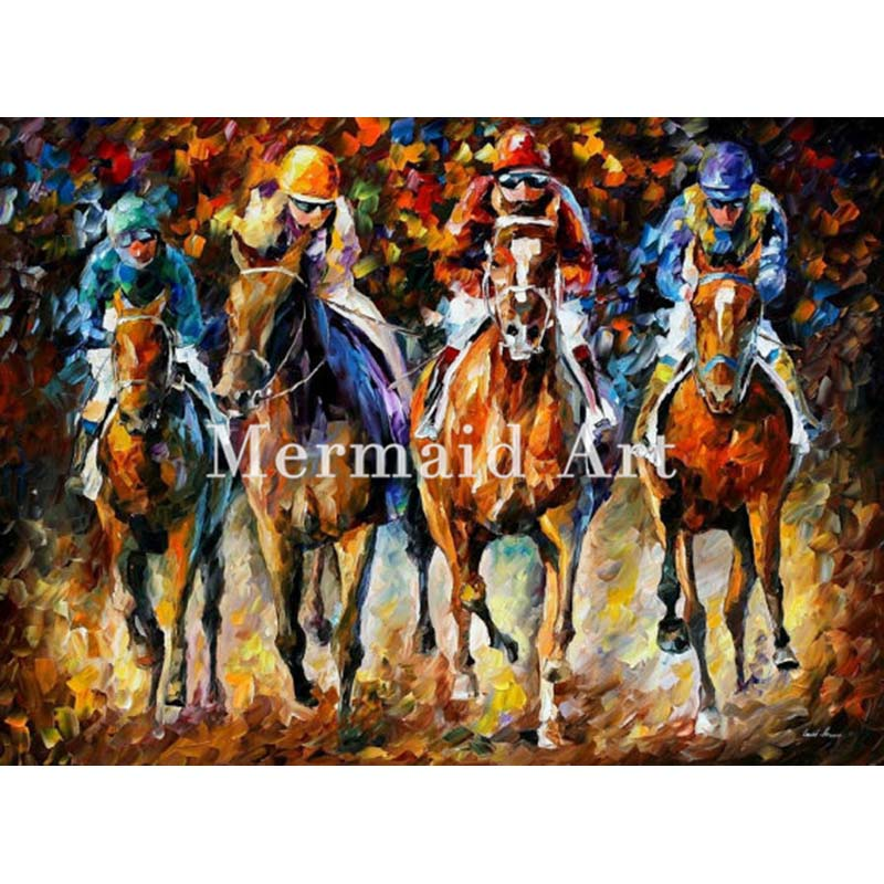 Hand Painted Landscape High Quality Abstract Palette font b Knife b font Follow The Leader Oil
