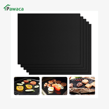 5pcs Reusable NonStick set BBQ Grill Mat Pad Barbecue Baking Sheet Meshes teflon matten Cooking Tools BBQ Grill plate accessory